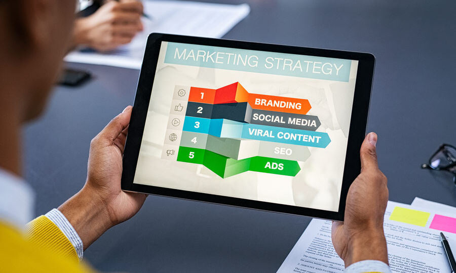 image of an iPad depicting Digital Marketing in 2021