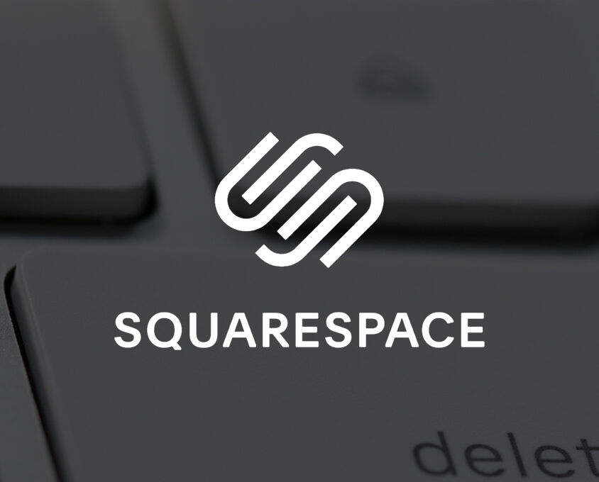 reasons to avoid website builders image showing the squarespace logo