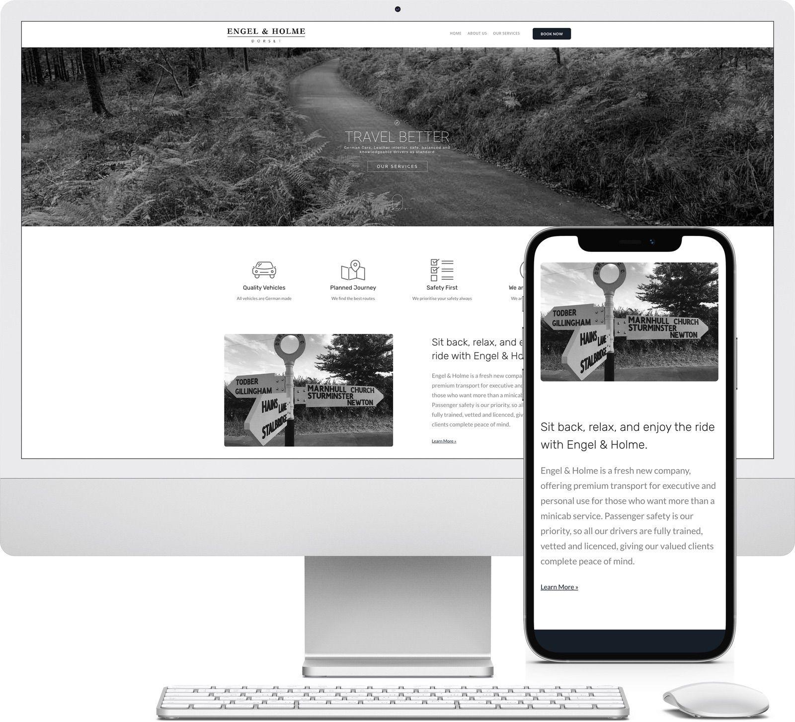Engel and Holme iMac and iPhone mockup image - Riotspace Creative
