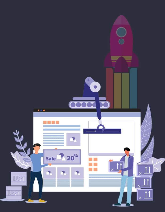 Website Design graphic showing Web Design process