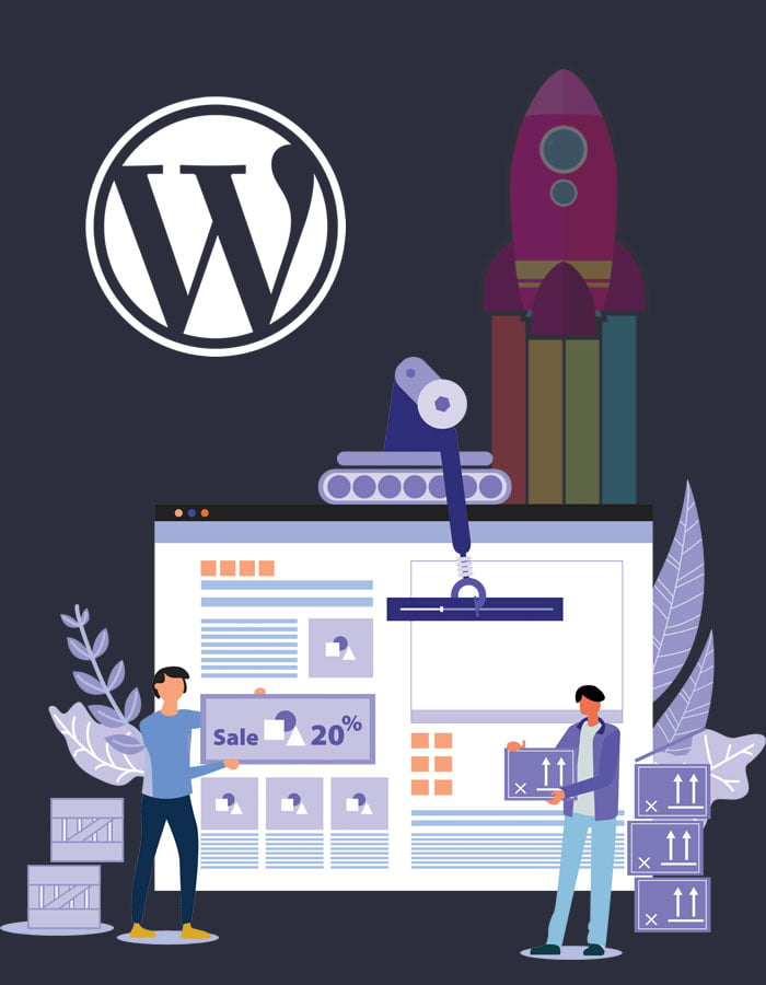 WordPress Website Design illustration